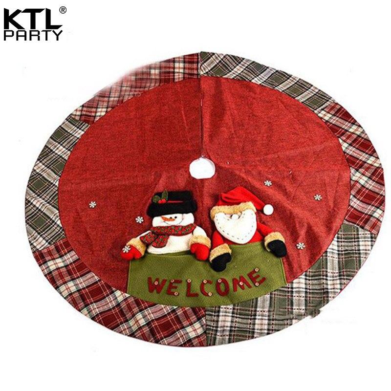 Linen Christmas Tree Skirt: Aliexpress.com : Buy KTLPARTY 120CM/47.2inch Three