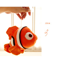 small cute plush fish toy orange fish doll fortune fish gift about 20cm 435