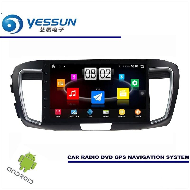 Lecteur multimédia Android YESSUN Car pour Honda pour Accord 9 2012 ~ 2017 Radio stéréo GPS Nav Navi carte sans CD DVD 10.1