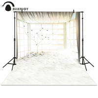 Allenjoy Photography Backdrops Tree Light Bright Pure White Window Background Photocall Photographic Photo Studio