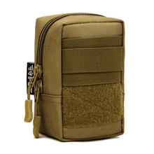 Men Durable Nylon Fanny Waist Pack Belt Bags mini Bum Pouch Military Male Assault Molle Cell Phone Mobile Phone Small Square Bag