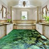 Free Shipping High Quality 3D Calm Creek Water Floor Background Painting Bedroom Shower House Restaurant Floor