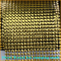 2014 Limited Clothing Set 5yard Lot Pyramids 24rows Plastic Rhinestone Mesh Trimming Sewing Trim Wedding Dress