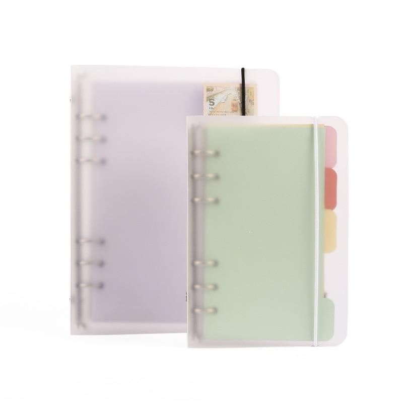A6 Translucent Matte Binder 6 Holes Loose Leaf Notebook