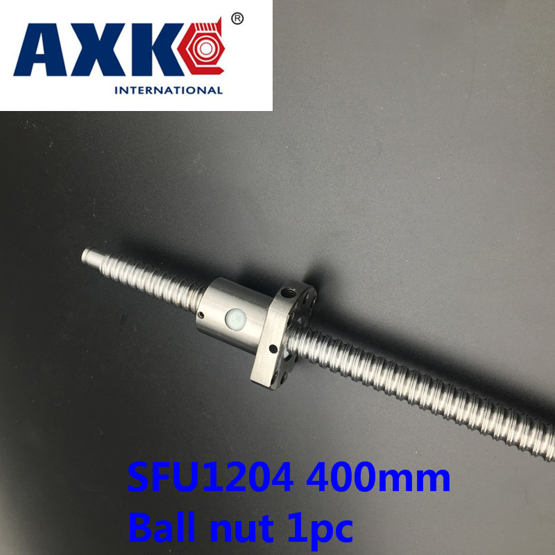 Axk Sfu1204 400mm C7 Rolled Ball Screw Rm1204 L 400mm Ballscrew With Sfu1204 Single Ballnut For Cnc Parts Bk/bf10 Machined axk sfu1204 200mm ballscrew with sfu1204 single ballnut for cnc parts bk bf10 machined