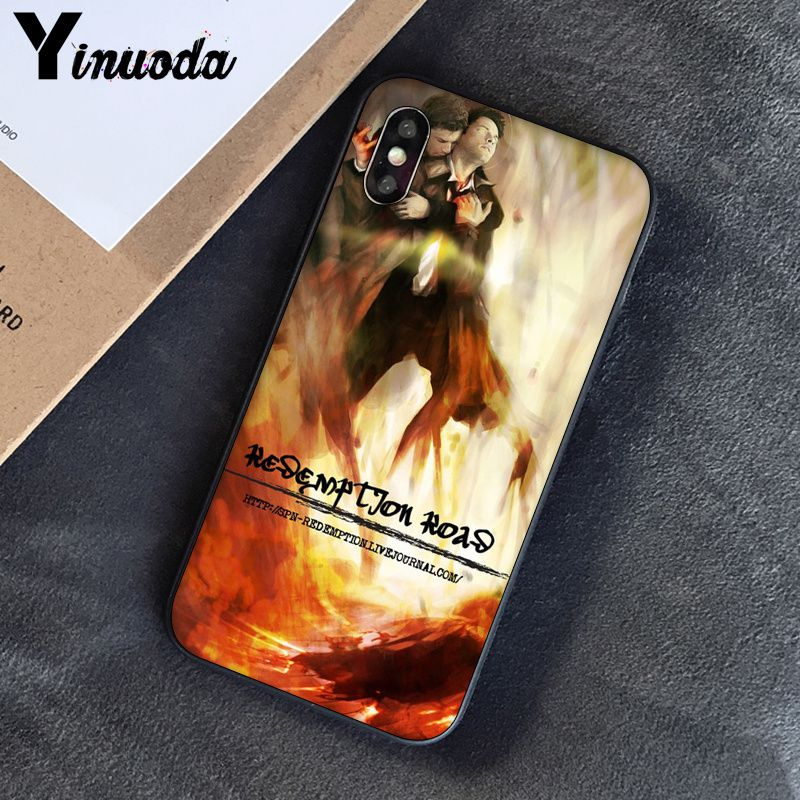 Image 4 - Yinuoda Supernatural Jensen Ackles Dean Winchest TPU black Phone Case Cover Shell for iPhone 8 7 6 6S Plus 5 5S SE XR X XS MAX-in Half-wrapped Cases from Cellphones & Telecommunications