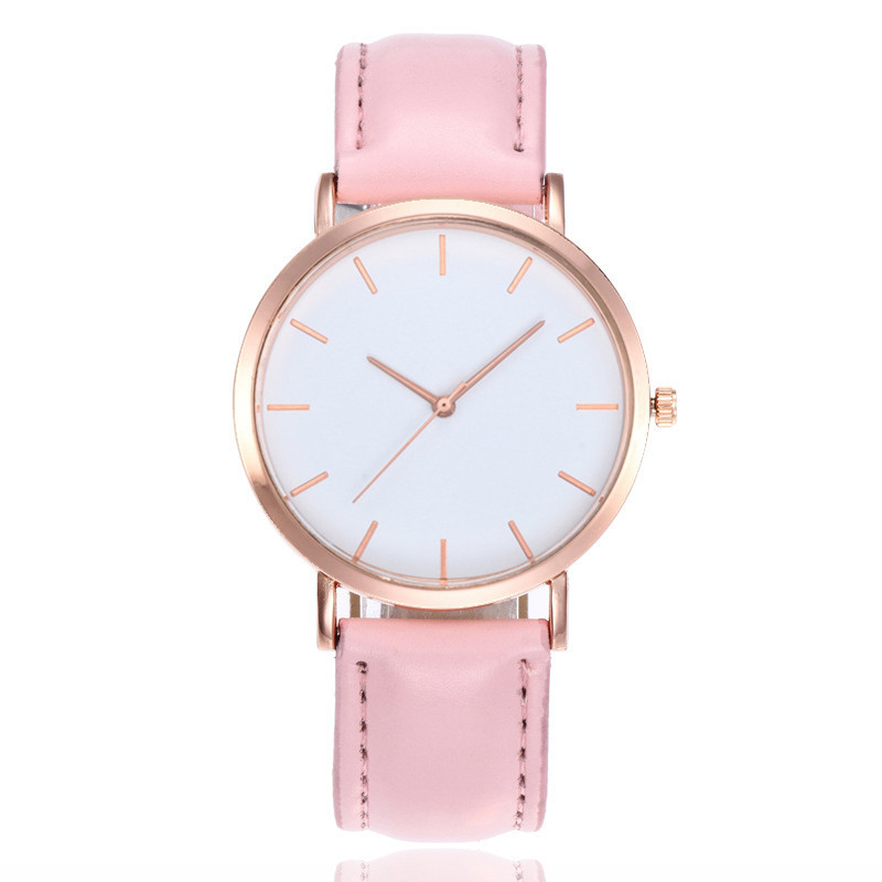 New Fashion R Rose Gold Women Watches Simple Ladies Watch Casual Leather Dress Quartz Wrist Watch Clock Montre Femme Reloj Mujer