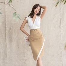 Women Summer Dress 2019 Sexy Slim Office Pencil Bodycon Dress Female C
