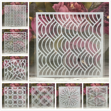 "Buy 8Pcs/Set 6"" Leaves Circle Cloud DIY Layering Stencils Painting Scrapbook Coloring Embossing Album Decorative Card Template directly from merchant!"