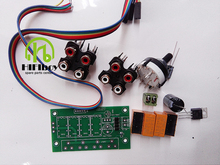 Free shipping  Assembled Audio Switching Board 4 Select 1 Audio Input signal Selector Relay Board