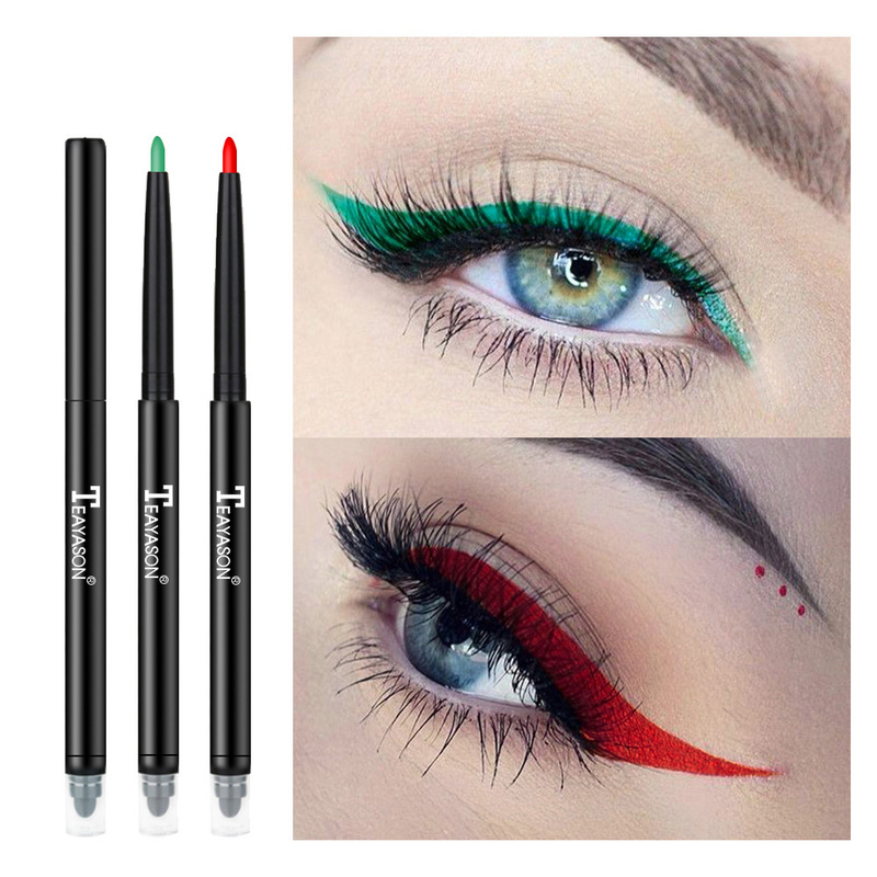 Hot! Pen Eye Makeup Cosmetic Tool Long Lasting Eye Liner Pencil NEW Automatic Double Head Waterproof Liquid Eyeliner TSLM1