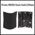 P6 крытый полноцветный гибкий светодиодный модуль 32x32 пикселей 1024 точек мягкие панели Высокое качество магнита установки 360 угол дисплей