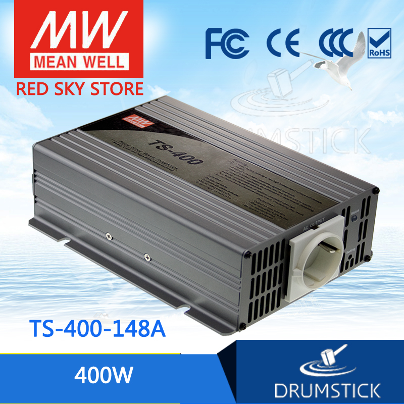 цена на Hot sale MEAN WELL original TS-400-148A USA Standard 110V meanwell TS-400 400W True Sine Wave DC-AC Power Inverter