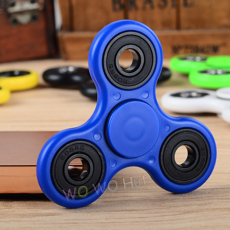 White/Black/Blue/Yellow /Green/Red 6 colors-Spinner Fidget Toy Plastic ...