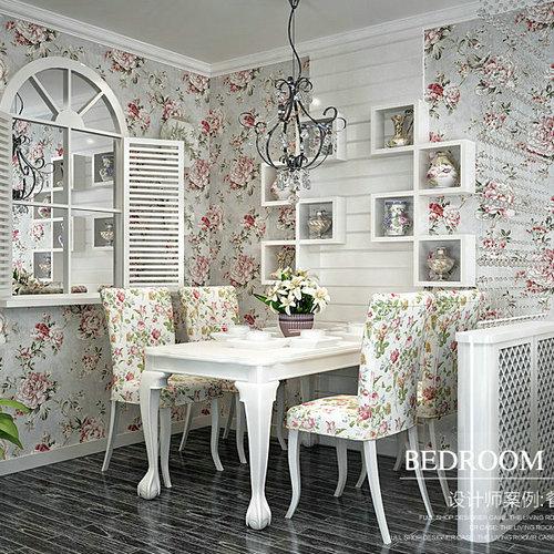 Купить с кэшбэком PAYSOTA American Style Wallpaper Bedroom Living Room  nonwoven Wall Paper Roll