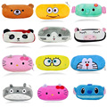 Caja de Lápiz de Kawaii Totoro Cartoon Esbirros de dibujos animados Hello Kitty de Peluche Grande Lápiz Bolsa Para Los Niños Los Niños Supplie Escuela Papelería