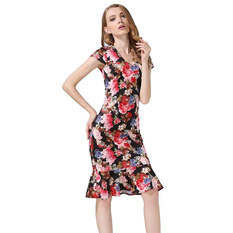 Multicolor Dress Office- ի Տիկնայք Աշխատանքային - Կանացի հագուստ - Լուսանկար 1