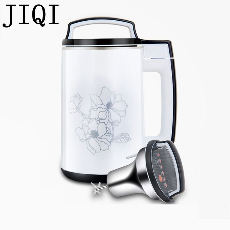 JIQI 110V Soymilk machine household Soya-bean Milk Maker filter-free soybean Milk machine Stainless Steel Juicer Blender US 1.5L цена и фото