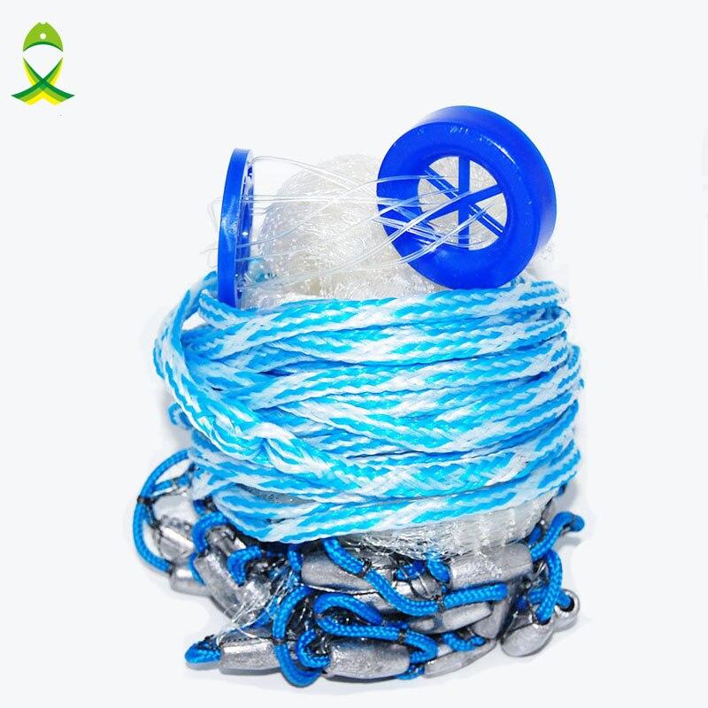 JSM 4-6 feet 3/8 Sq Mesh USA style Cast Nets with lead Sinkers fishing net trap Nylon Nets for fishing diameter 2.4m 00sckt 3 8 fmale sq drv 10mm fm