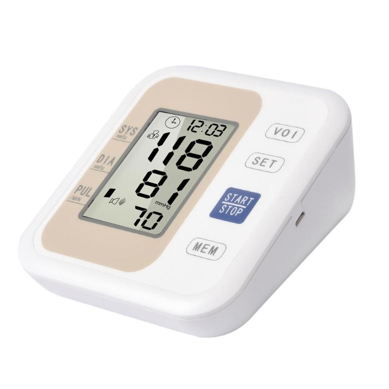 Automatic Upper Arm Blood Pressure with Voice LCD Display Heart Beat Meter Sphygmomanometer Household Arm Blood Press Monitor 1
