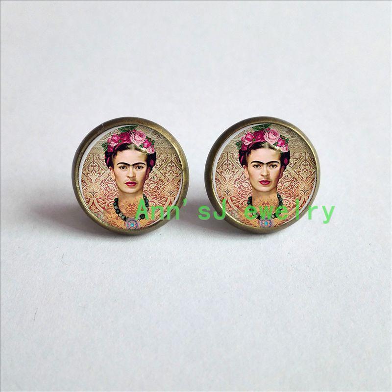 HZ4 00538 Cheap Frida ear nail Kahlo Earrings Frida Kahlo photo ear ...