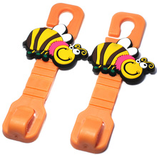 Car Headrest Cute Honeybee Cartoon Hook Hanger Storage