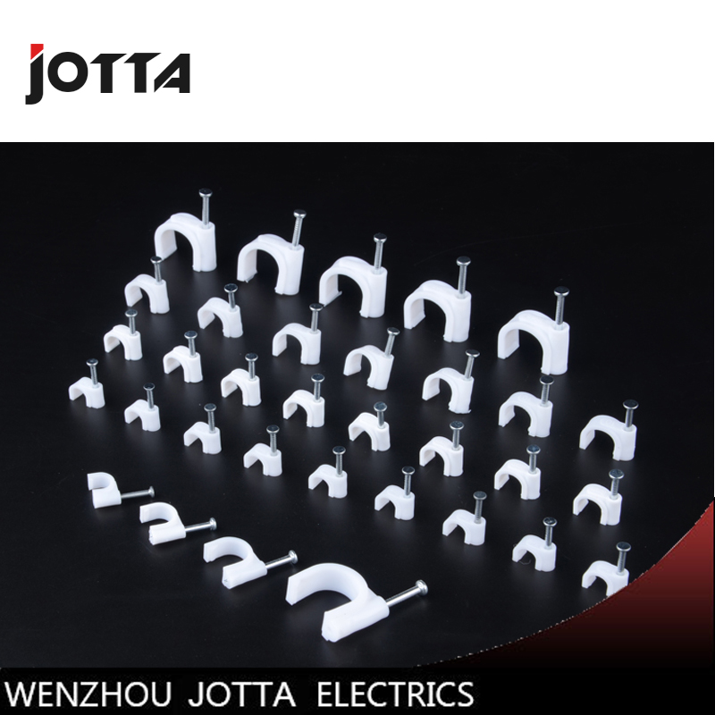 Nail cable wire fixing clip, nail cable telephone lines nail wire buckle, wall nail groove card slot fixed type U 100pcs