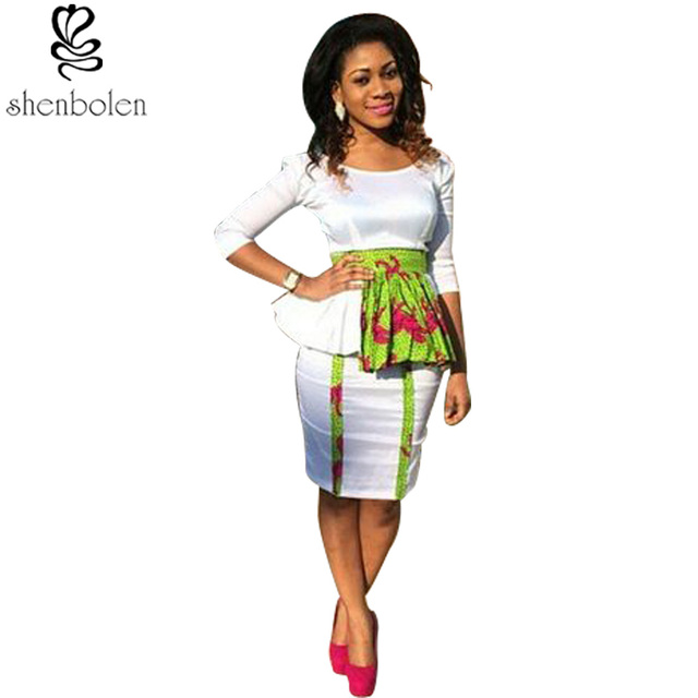 fdd49ce06080e Newest women African printed batik clothes suit lady fashion batik joint  tops + skirt female traditional