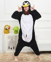 Cute Penguin Animal Pajamas Winter Pijama Cartoon Cosplay Pijamas For Girls Boys Adults Flannel Onesies Women