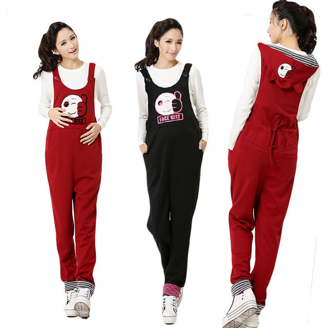 Brand Spring&Autumn New 2 Styles Maternity Overalls Belly Band&Support Costumes Fashion Suspender Trousers For Pregnant Women