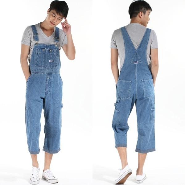 093d0686ac9 New hot men bib overalls suspenders fat big size men denim overalls tide  loose pants men