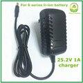 25.2v1a 25.2 V 1 li-ion cargador de batería Alithium para 6 Series 21.6 V 22.2 V 24 V li-ion de litio Li-paquete de baterías de polímero de buena calidad
