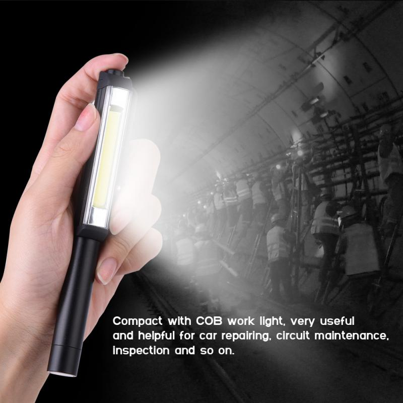 COB 16 LED Flashlight torch lanterna Hand Pocket Pen Work Light Magnetic Inspection Clip Lamp Pocket Clip Work Torch Flashlight