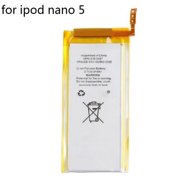 For Nano 5 Battery for iPod Nano 5 5th Gen Battery Brand New 3.7V Li-ion Battery Replacement