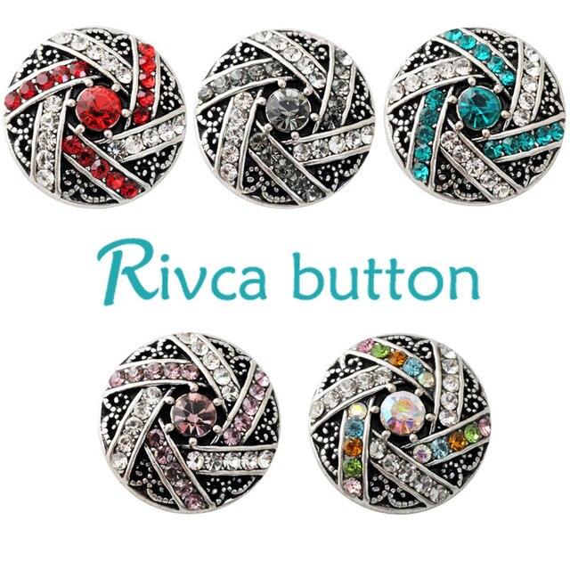 D02183 Rhinestone newest rivca  snap  for 18mm  bracelet