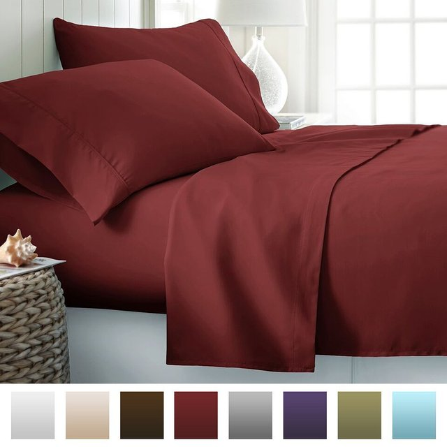 Juwenin Unihome Hot Light Microfiber Sheet Set Bed Pillow Case