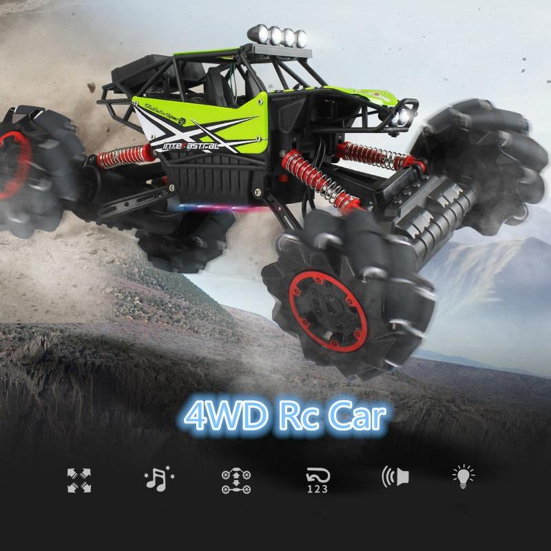 2.4G 4WD Subida Rc Deriva Carro de Controle Remoto off road monstro RTR Buggy De carro de corrida brinquedo Do Carro Deriva com o pé música luz presente para