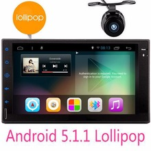 "Camera+7"" Android 5.1 Lollipop Car Radio Quad Core Double Din No dvd 2 din Head Unit in dash Autoradio Bluetooth GPS Stereo"