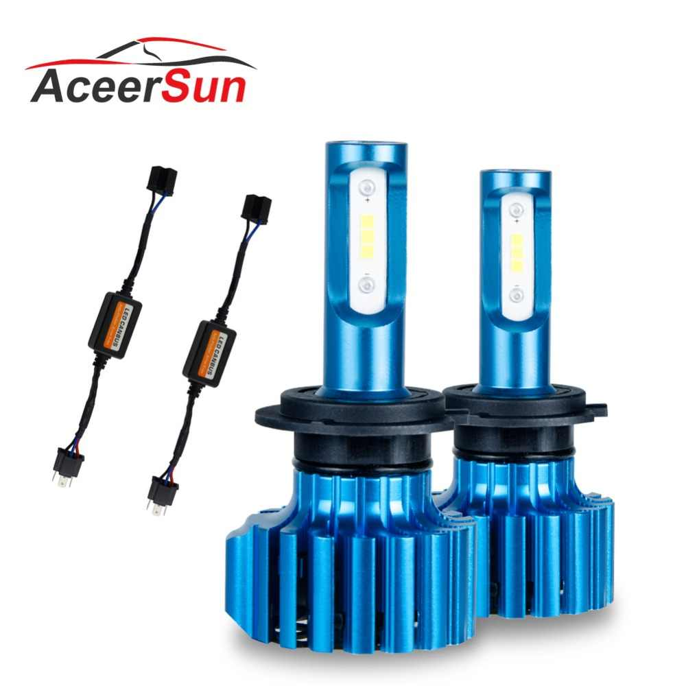 Aceersun H4 LED H7 LED Headlight s Bulbs 72 W 12000 LM LED H8 9005 9006 CSP Chip HB3 H11 H1 Hi lo Car Headlamp Fog Light 12v 24v