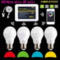 Mi Light iOS Android APP E27 6W RGBW (RGB+Warm white ) LED Bulb 2.4G Wifi Dimmable Smart Light Lamp wifi controller IBOX