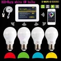 Mi Light 2 4G AC 110V 220V E27 6W Wi Fi RGBW RGB Warm White LED