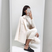 women busines Elegant Pants Suits Blazer Two Piece Set Jacke
