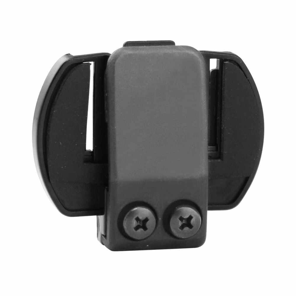 Envío gratis 1 Uds soporte de montaje y abrazadera para motocicleta bluetooth clip para intercomunicador accesorio para intercomunicador bluetooth V6