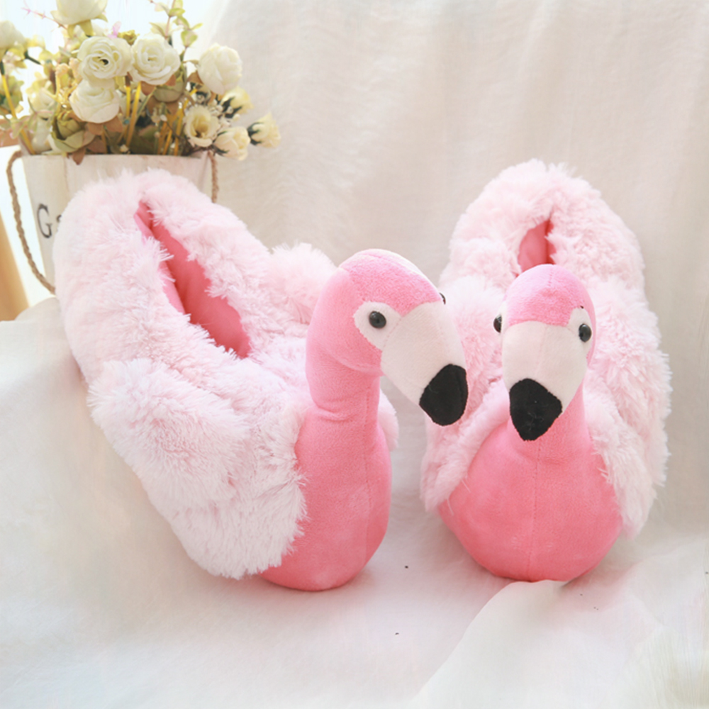 a3584d1aed24 G.L.Brother Flamingo Slippers Puntufa Furry Slippers Chinelo Home Slippers  House Shoes Women Winter Pink Colors-in Slippers from Shoes on  Aliexpress.com ...