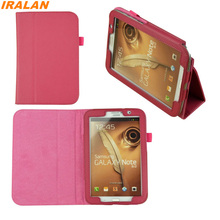 2017 Hot Lychee PU Leather Folio Fashion Case for Samsung Galaxy Note 8.0 N5100 N5110 N5120 Flip Stand Tablet Cover+stylus+film