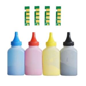 Image 1 - 4 x Refill Color toner Powder + 4chip CLT 407S clt 407s  clt k407 toner cartridge for Samsung CLP 325 CLP 320 CLX 3285 CLX 3185