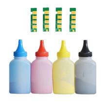 4 x Refill Farbe toner Pulver + 4chip CLT 407S clt 407s clt k407 toner patrone für Samsung CLP 325 CLP 320 CLX 3285 CLX 3185