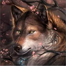 Diy 3D Diamond Painting Wolf Gentle Eyes Canvas Oil Handicraft Knitting Needles Cross Stitch Modern Full Square(China)