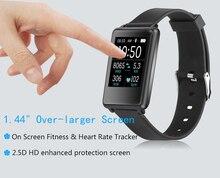 Новинка 2017 года TK002 спорт площади Сенсорный экран Смарт монитор сердечного ритма сна трекер для IOS Android часы Водонепроницаемый