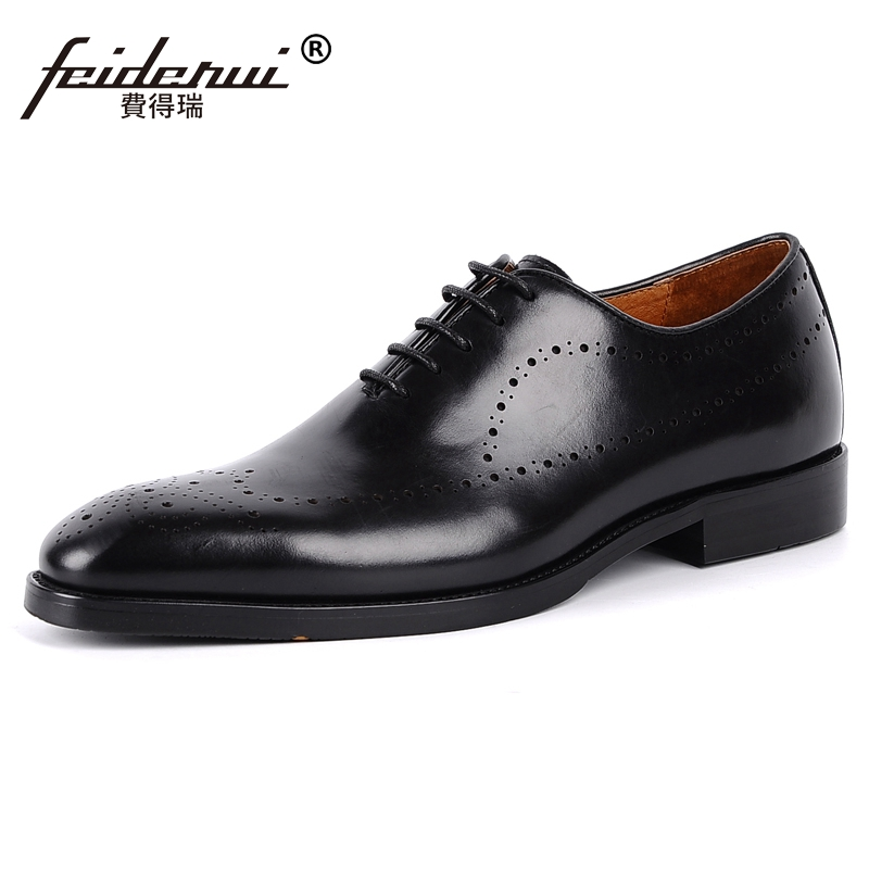 New Arrival Man Carved Handmade Party Shoes Genuine Leather Wedding Oxfords Vintage Pointed Toe Mens Brogue Footwear JS86New Arrival Man Carved Handmade Party Shoes Genuine Leather Wedding Oxfords Vintage Pointed Toe Mens Brogue Footwear JS86